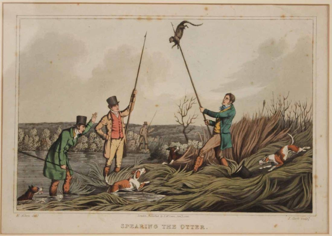 Four Colored Lithographs, Sporting Prints - 4