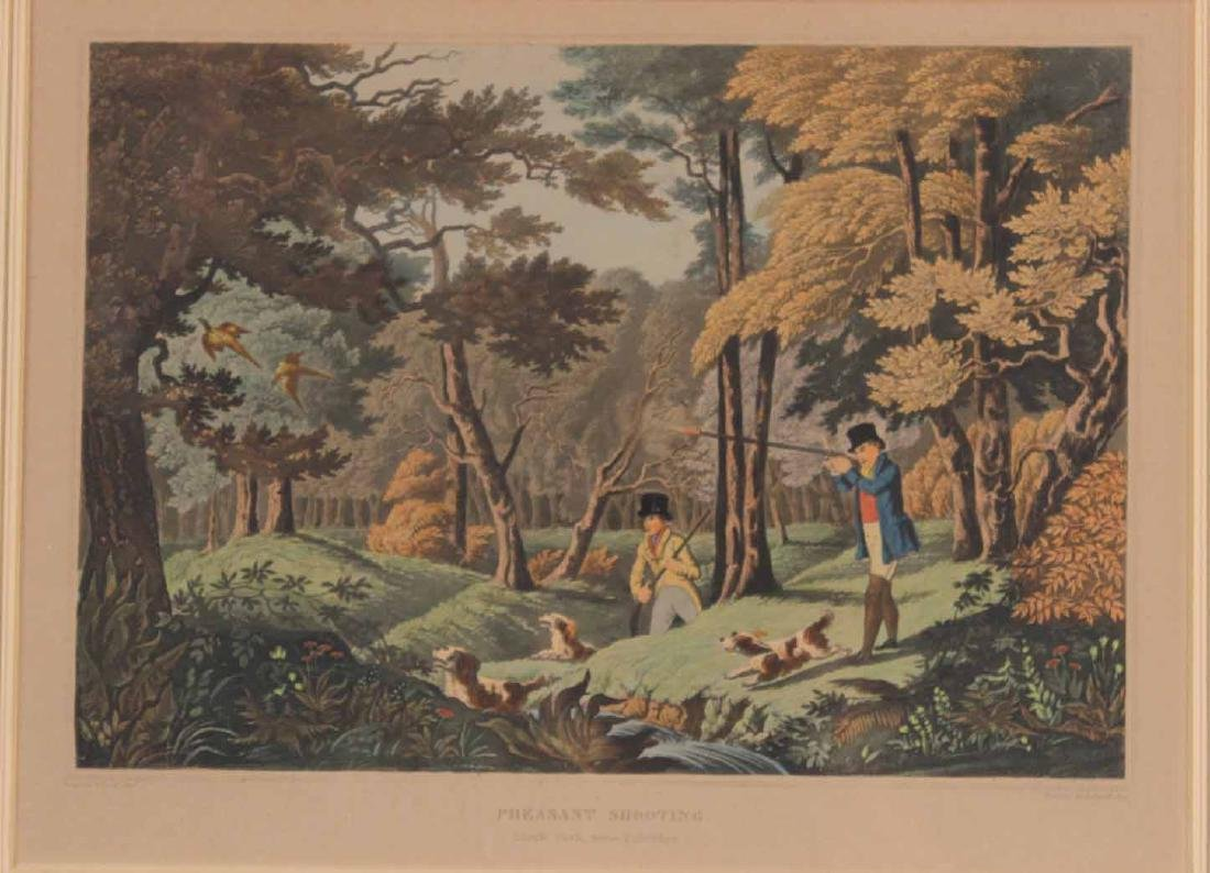 Four Colored Lithographs, Sporting Prints - 5