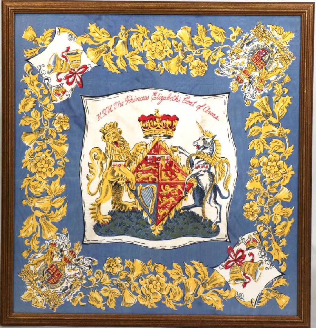 Framed Scarf, Princess Elizabeth's Coat of Arms