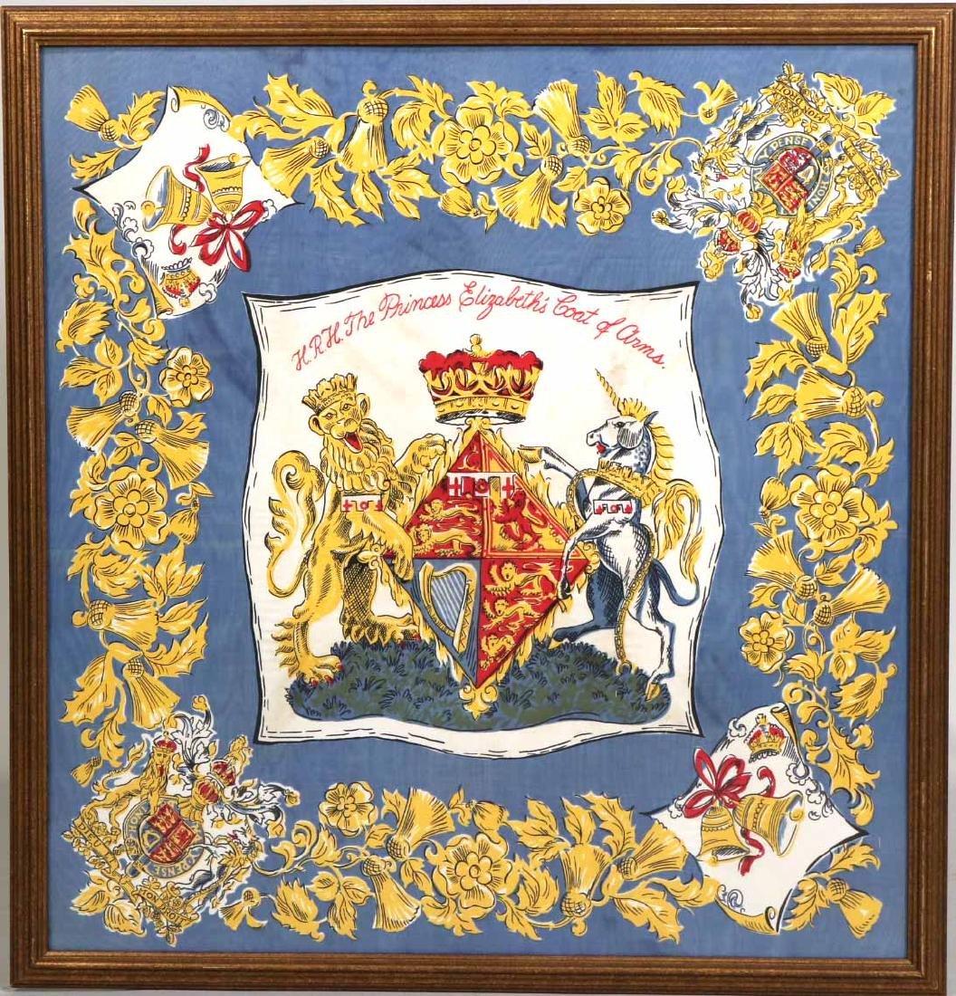 Framed Scarf, Princess Elizabeth's Coat of Arms - 2