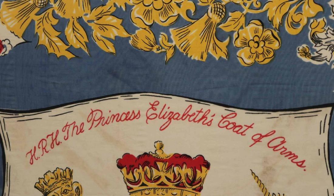 Framed Scarf, Princess Elizabeth's Coat of Arms - 5