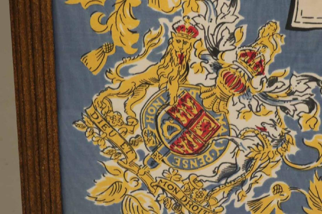 Framed Scarf, Princess Elizabeth's Coat of Arms - 6