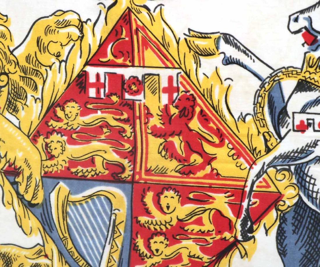 Framed Scarf, Princess Elizabeth's Coat of Arms - 7