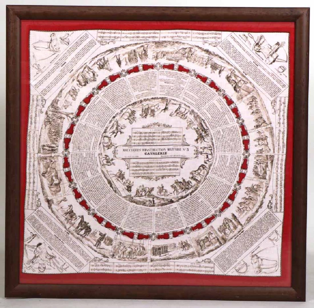 Framed Military Training Handkerchief