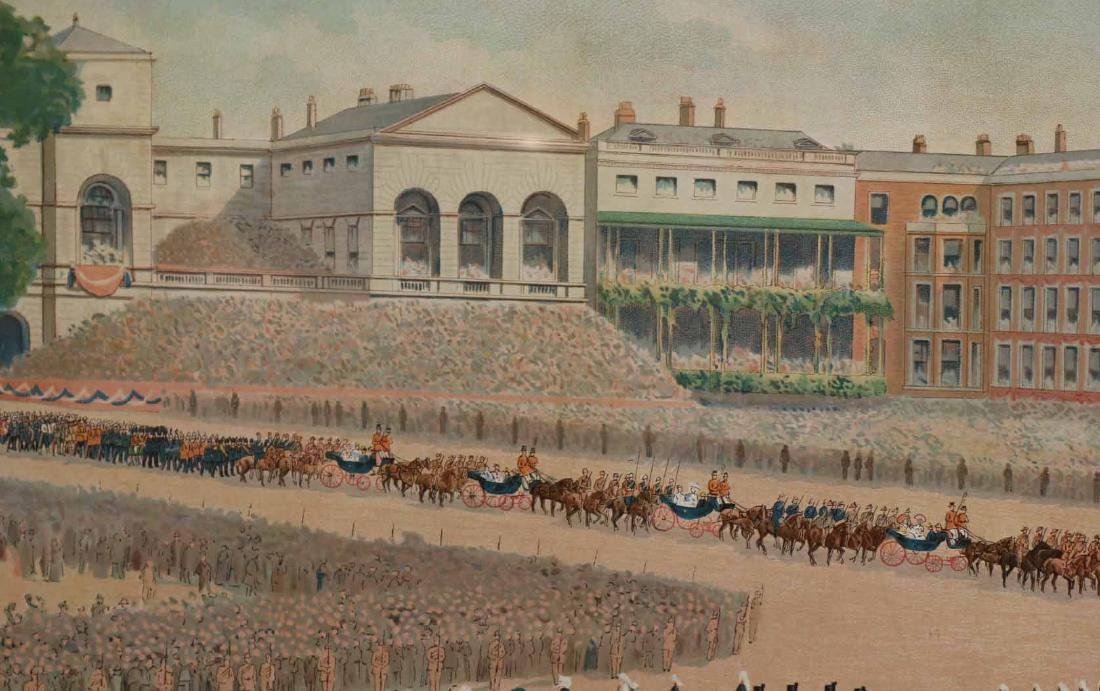 Print of a Parade for Queen Victoria - 10