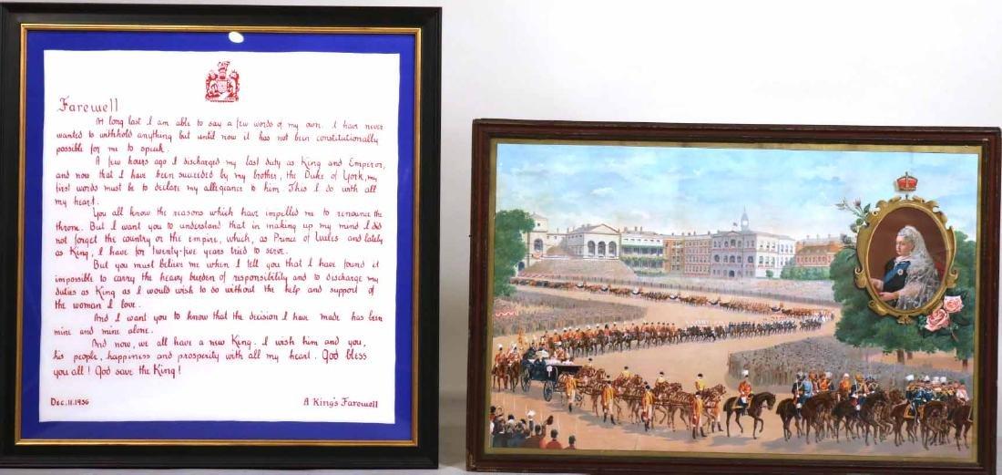 Print of a Parade for Queen Victoria