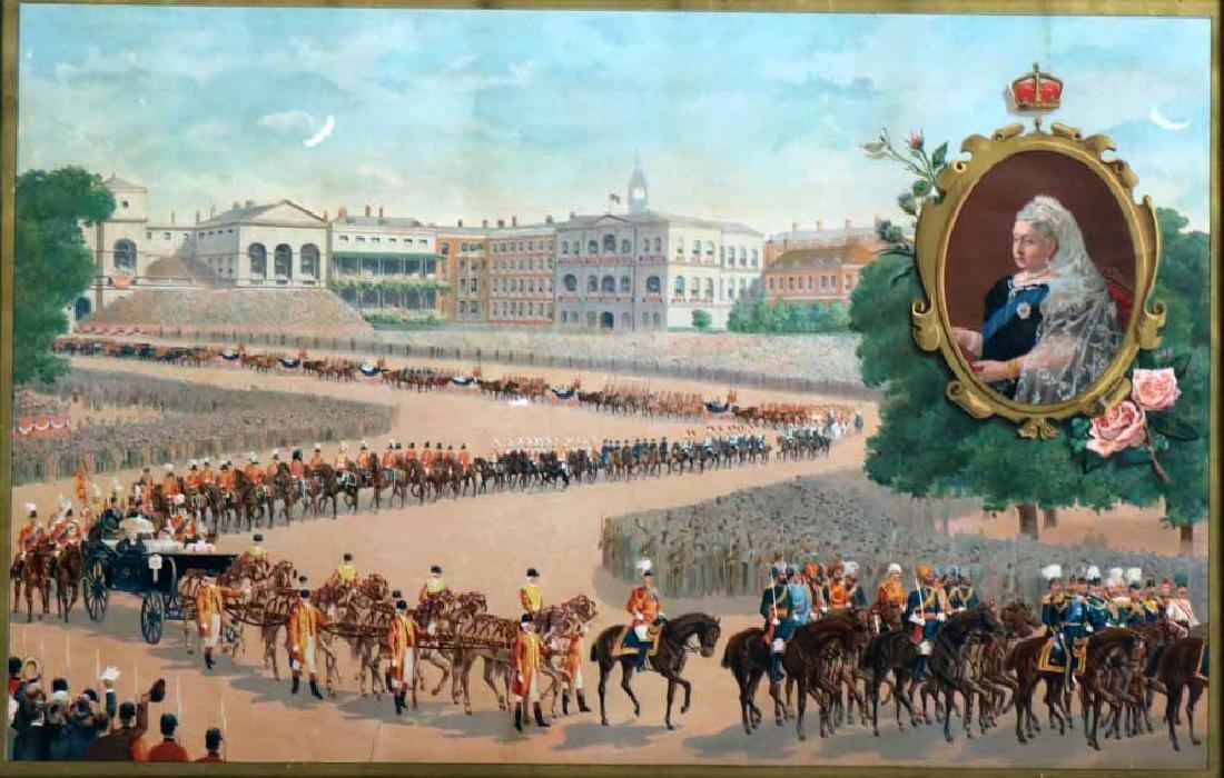 Print of a Parade for Queen Victoria - 6
