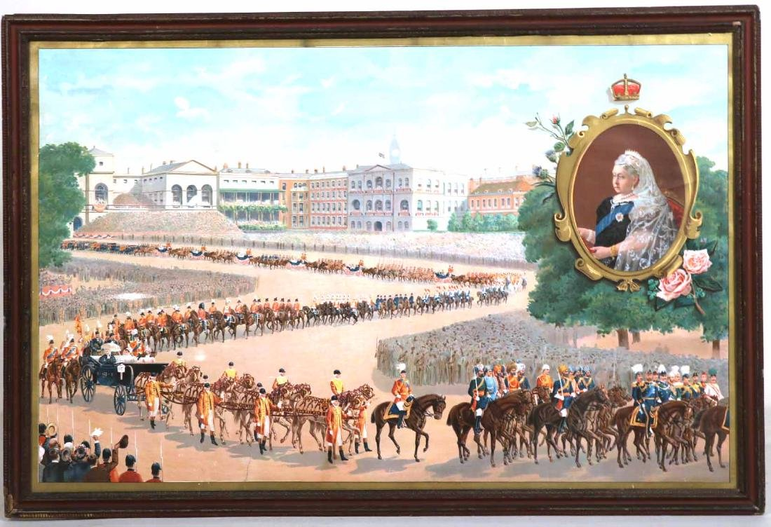 Print of a Parade for Queen Victoria - 7