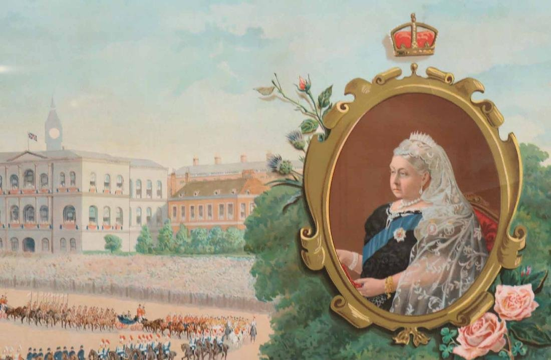 Print of a Parade for Queen Victoria - 8