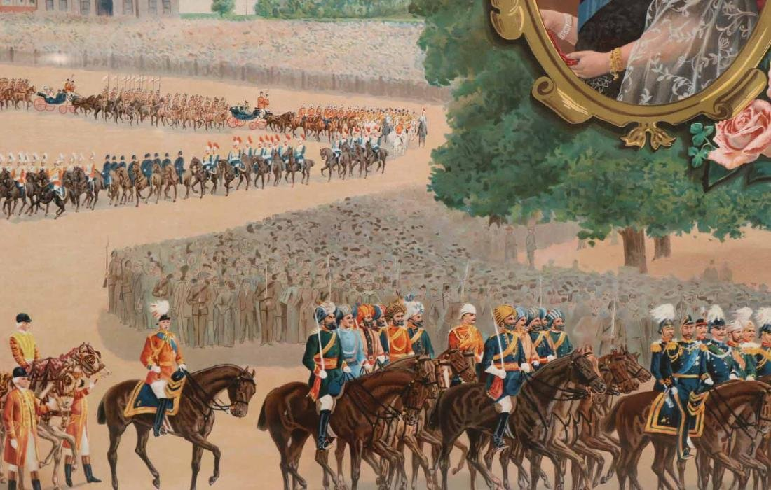 Print of a Parade for Queen Victoria - 9