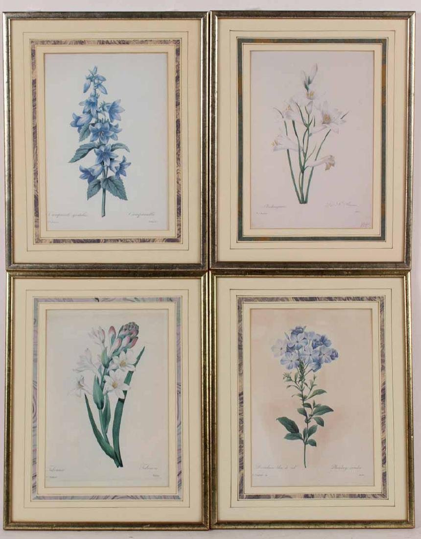 Four Prints of Flowers
