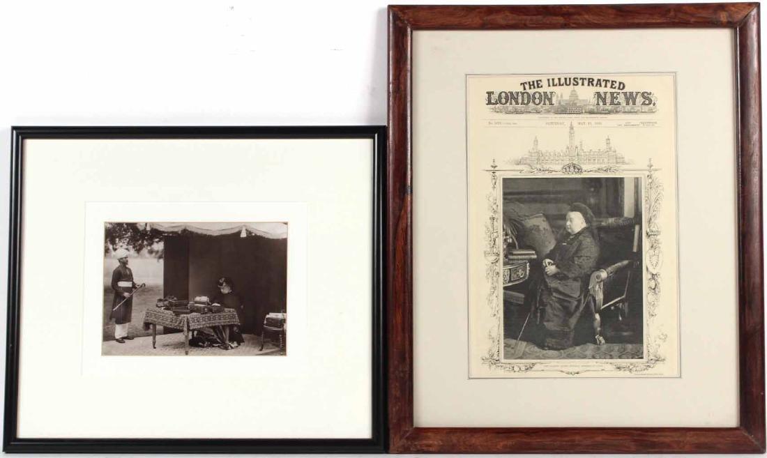 Black & White Photograph, Queen Victoria & Abdul