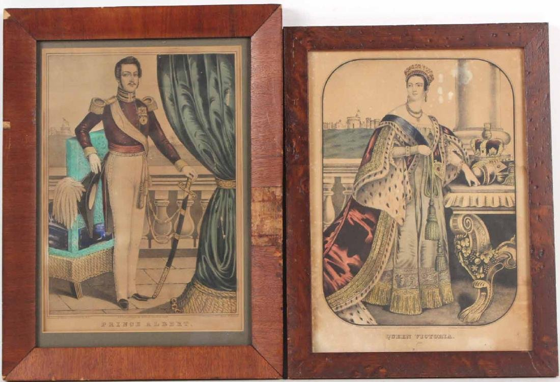 Two Prints, Queen Victoria and Prince Albert
