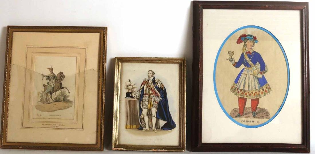 Three Prints of Male Figures