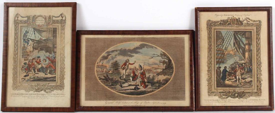 Three Engravings of English Military Scenes