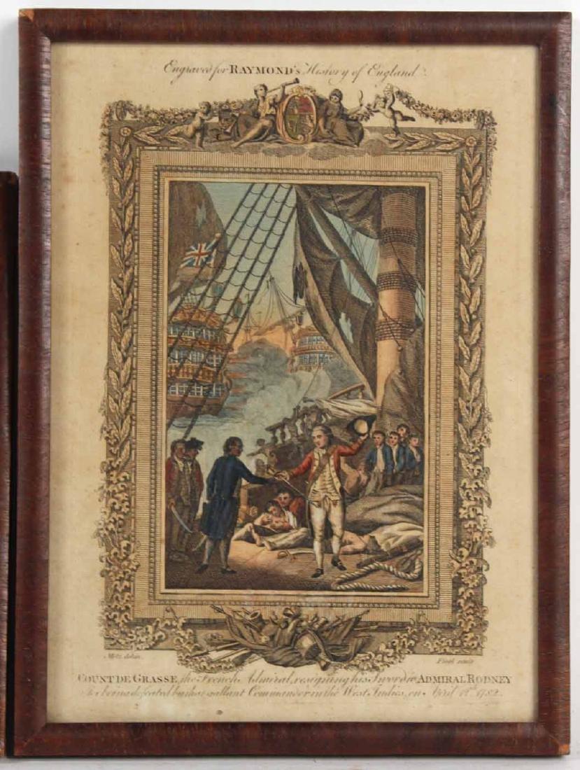 Three Engravings of English Military Scenes - 2