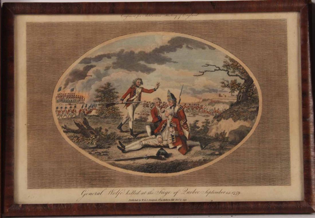 Three Engravings of English Military Scenes - 4