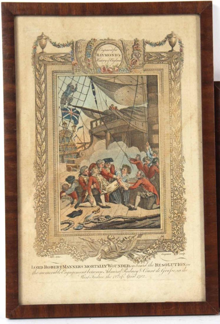 Three Engravings of English Military Scenes - 7