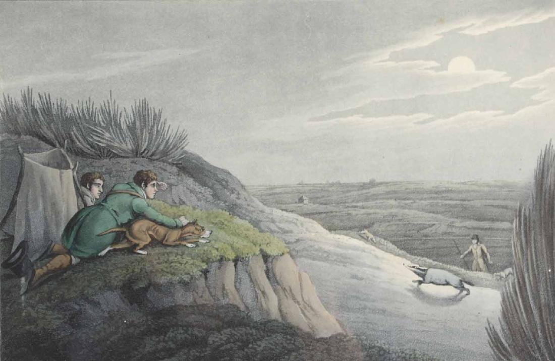 "Etching, ""Badger Catching,"" After Henry Alken - 3"