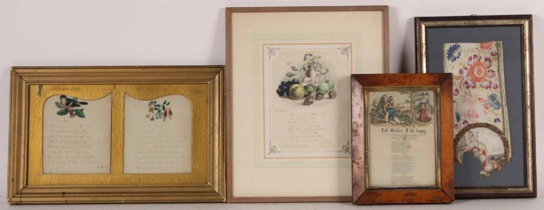 Two Framed Illustrated Letters