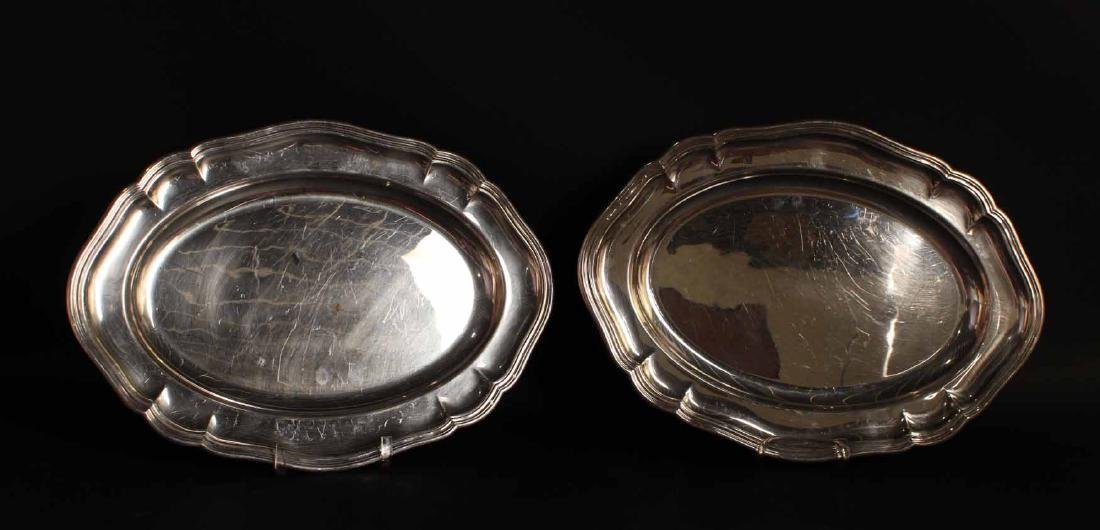Pair of Barker Ellis Silver Plated Trays