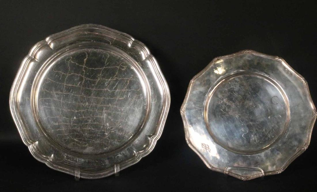 English Silver Plated Circular Tray