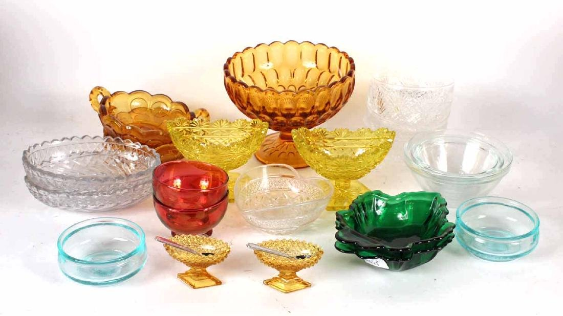 Group of Colorless and Color Glass Articles