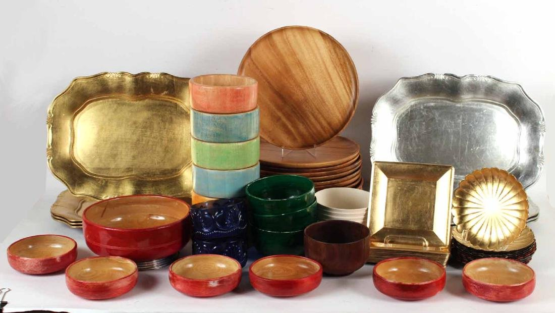 Group of Serving Bowls,Trays, Plates and Chargers