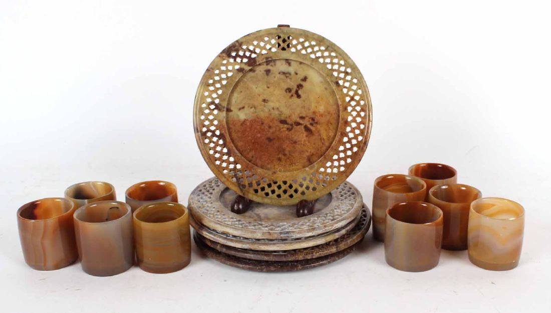 Stone Votive and Pillar Candle Holders