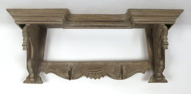 Bleached Wood Wall Shelf