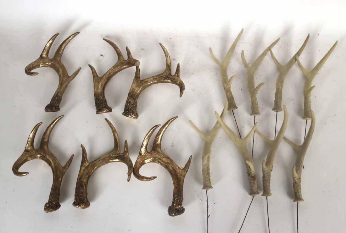 Eight Faux Deer Antlers