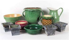 Assorted Group of Enamel Ceramic and Tin Articles