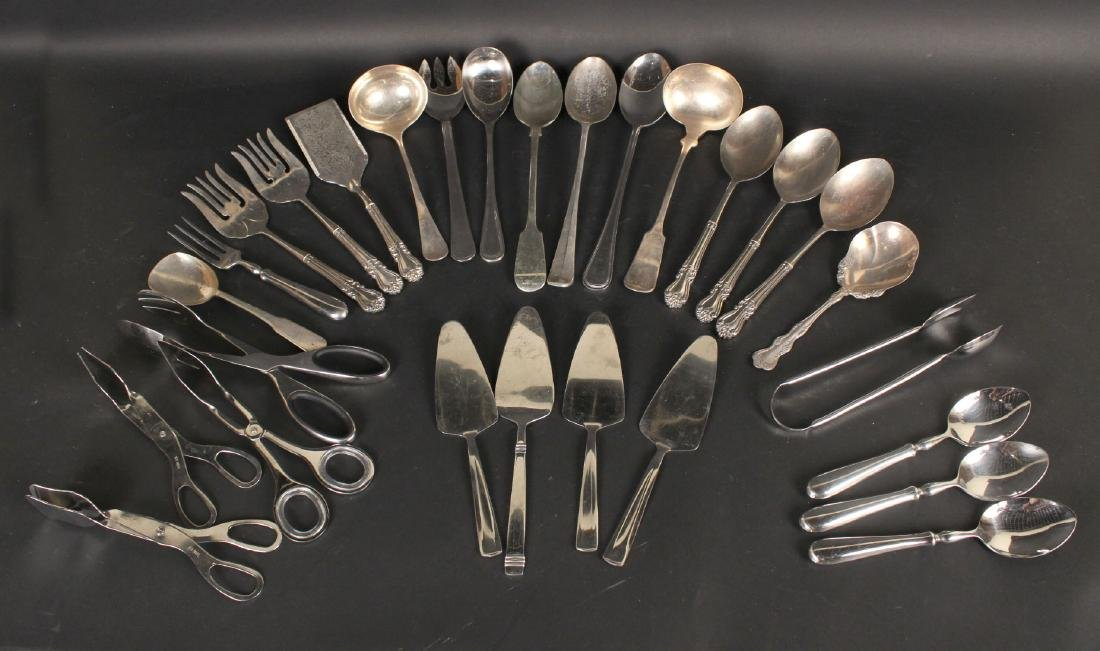 Group of Silver Plated & Metal Utensils