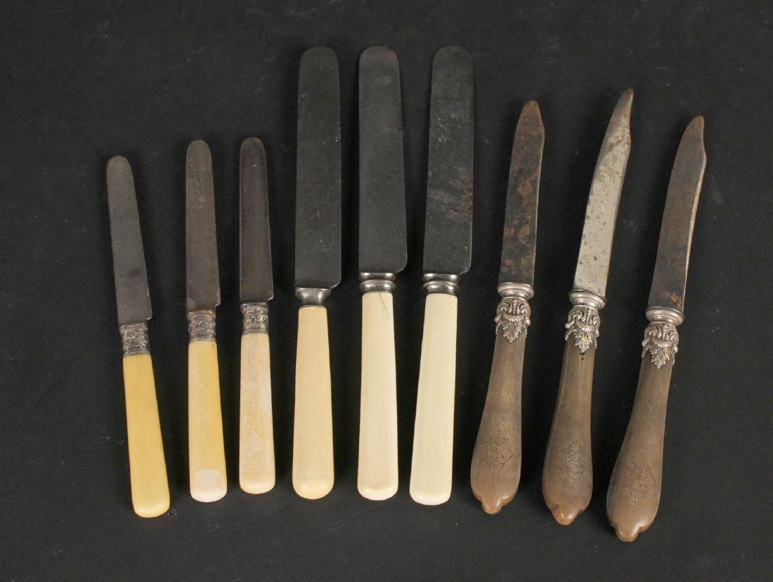 Set of Ten Wooden Handled Steak Knives