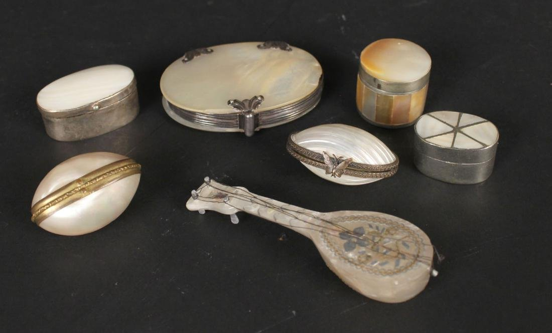 Group of Mother-of-Pearl Objects