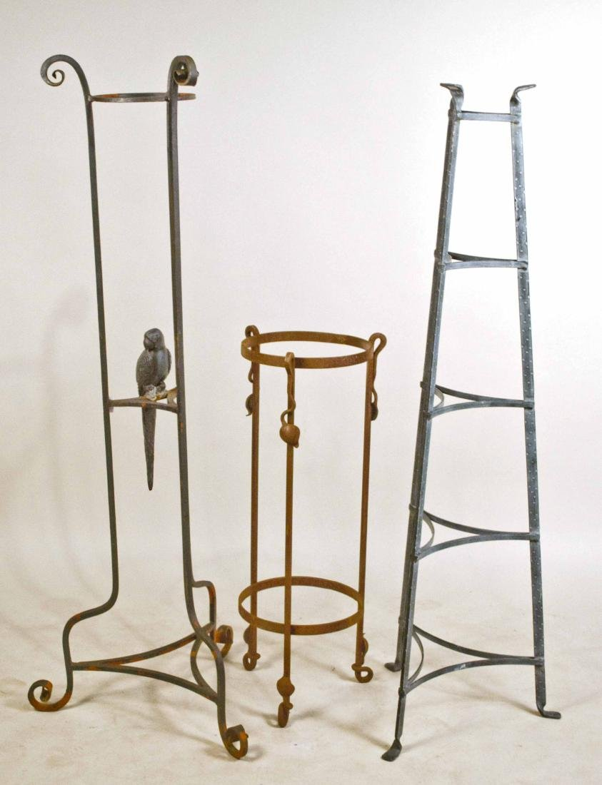 Three Metal Plant Stands