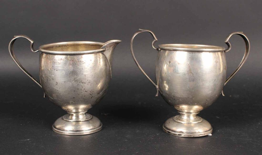 Sterling Silver Cream Jug and Sugar Bowl