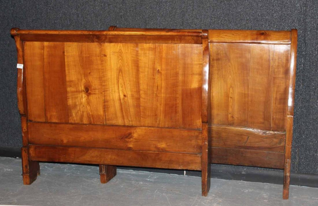 French Provincial Cherrywood Sleigh Bed