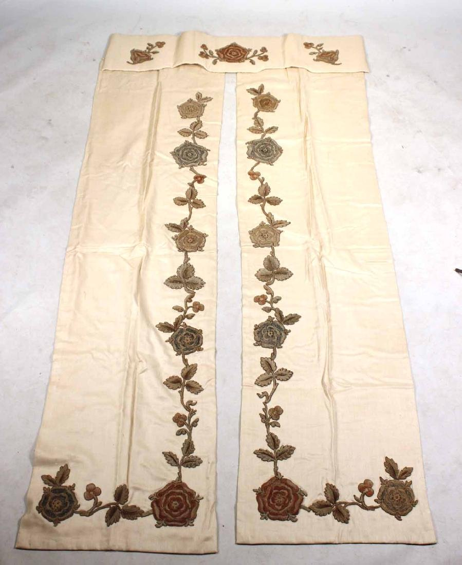 Three Pairs of Drapes and Two Valances