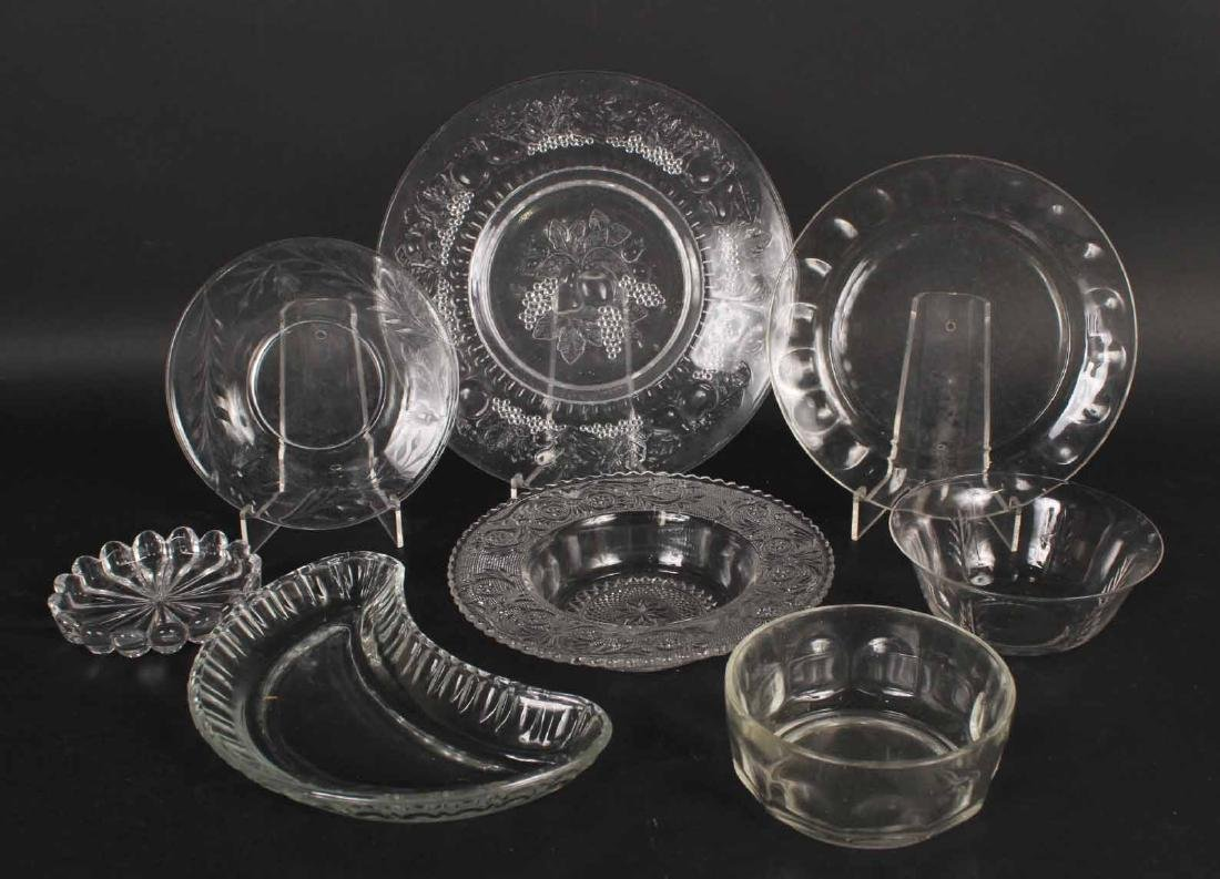 Group of Assorted Glass Plates and Bowls