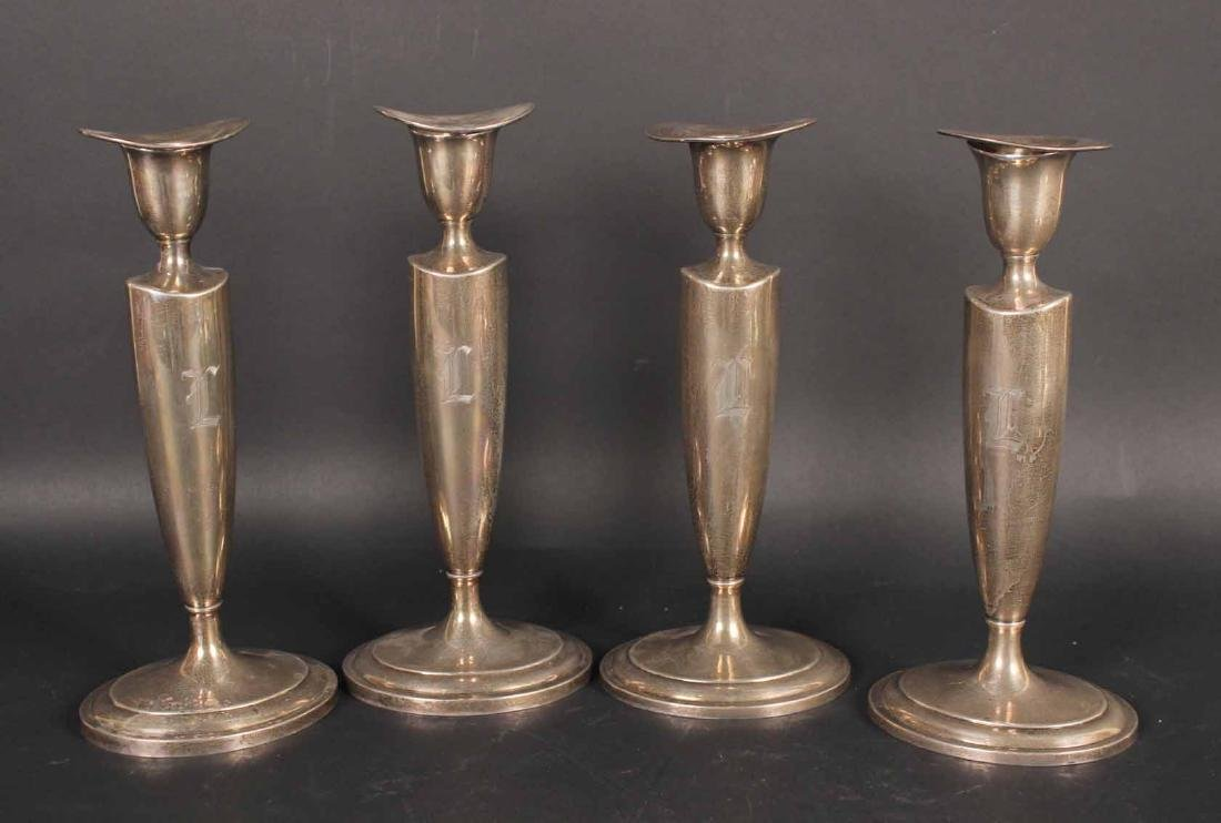 Four Towle Sterling Silver Candlesticks