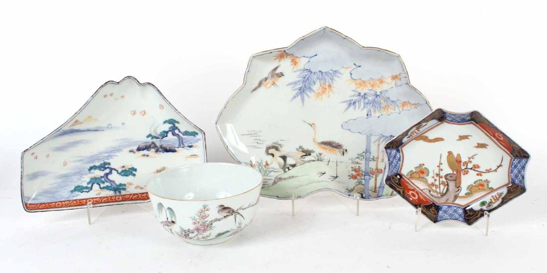 Three Chinese and Japanese Shaped Dishes