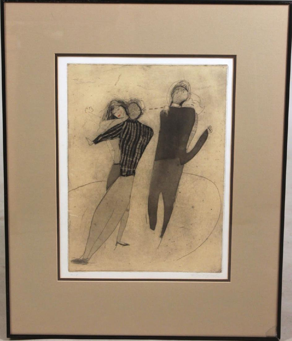 Artist Proof Etching of Dancing Coupls