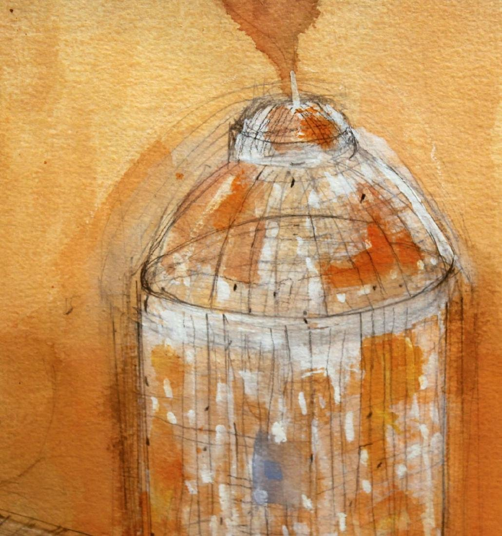 Watercolor on Paper, Architectural Abstract - 3