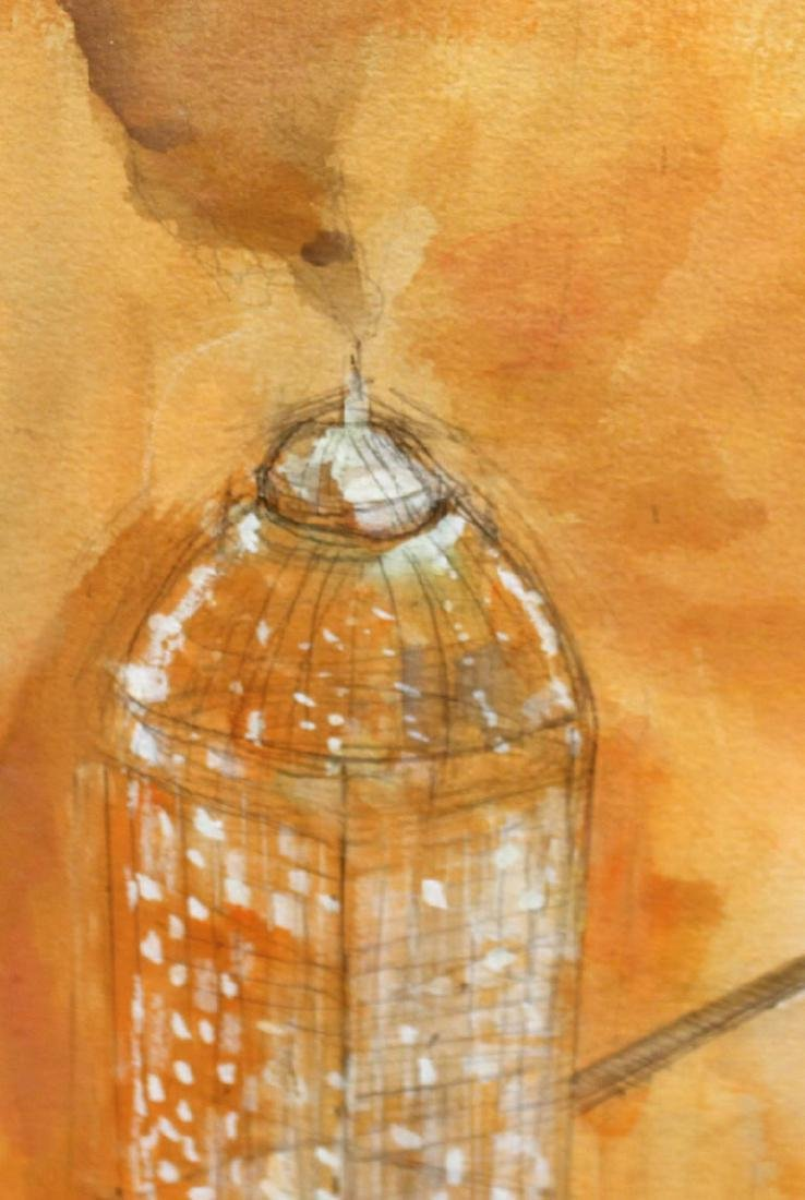 Watercolor on Paper, Architectural Abstract - 4