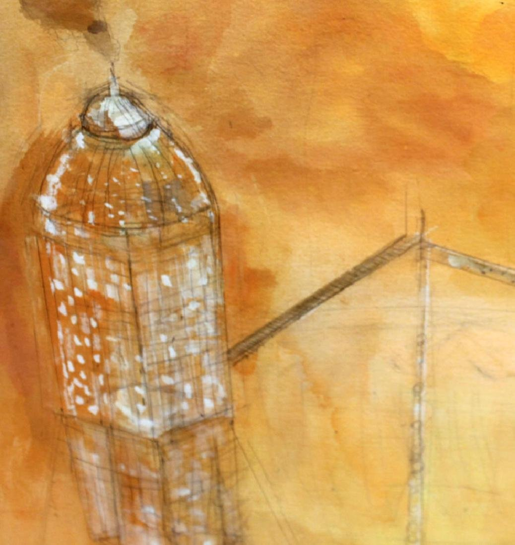 Watercolor on Paper, Architectural Abstract - 5