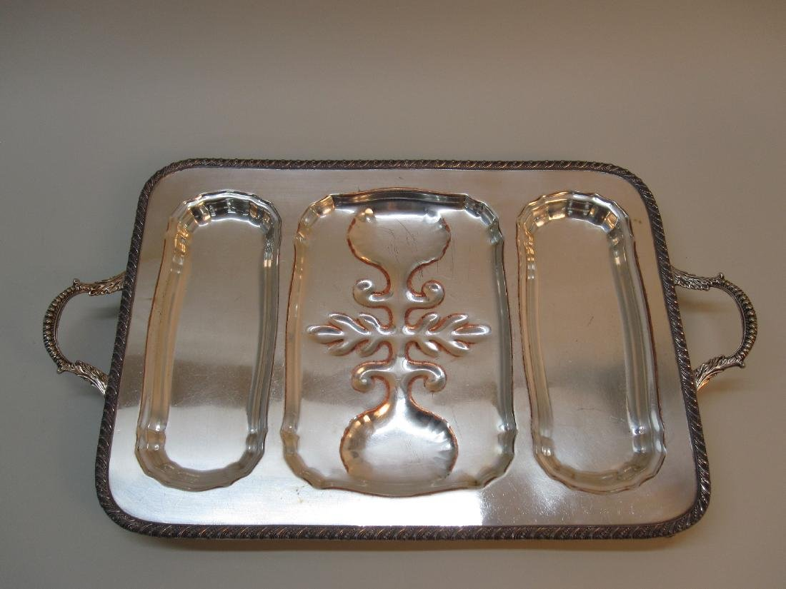 REED AND BARTON SILVER PLATED TRAY - 5