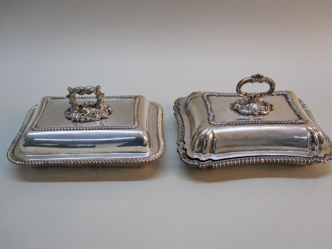 TWO SILVER PLATED COVERED VEGETABLES