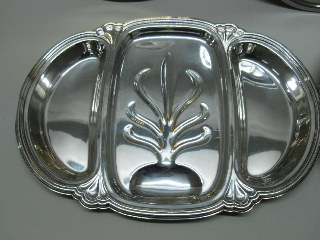 2 SILVER PLATED WELL AND TREE PLATTERS - 3