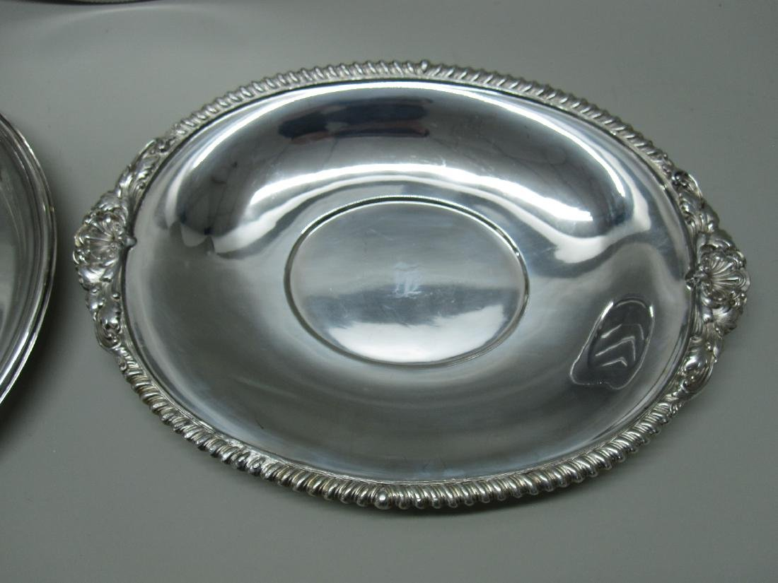 2 SILVER PLATED WELL AND TREE PLATTERS - 4